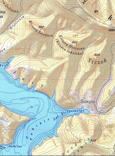 Solina Jezioro Solinskie I Jego Okolica Mapa Turystyczna 1 25