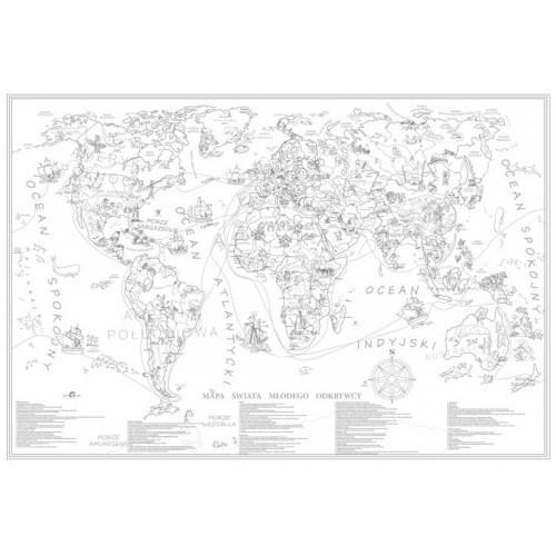 świat Kolorowanka Dla Dzieci Xxl Mapa ścienna Mapy ścienne