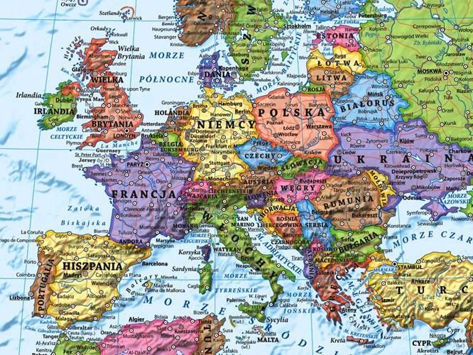 Swiat Polityczna Mapa Scienna Magnetyczna 1 18 Mapy Scienne