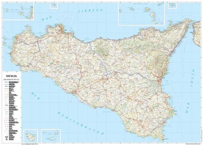 Sycylia Mapa Regionu 1 250 000 Mapy I Atlasy Samochodowe
