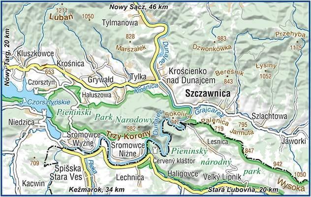 Szczawnica Plan Miasta Mapa Turystyczna 1 12 500 Mapy I Atlasy