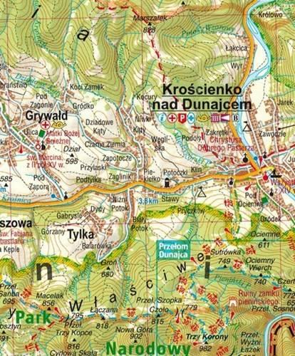 Szczawnica I Pieniny Mapa Turystyczna 1 7 000 1 70 000 Mapy I