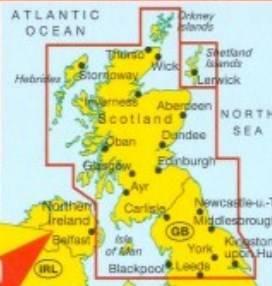 Szkocja Anglia Polnocna Mapa Samochodowa 1 300 Mapy I Atlasy