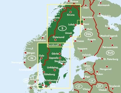 Szwecja Mapa Samochodowa 1 600 000 Mapy I Atlasy Samochodowe