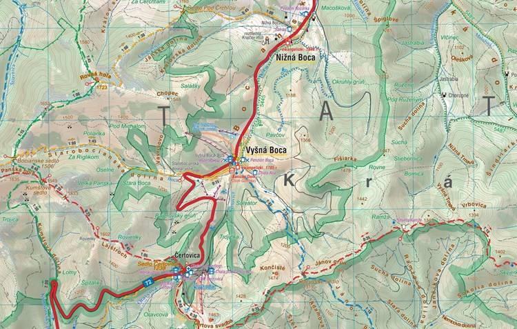Tatry Nizne Mapa Turystyczna 1 50 000 Mapy I Atlasy