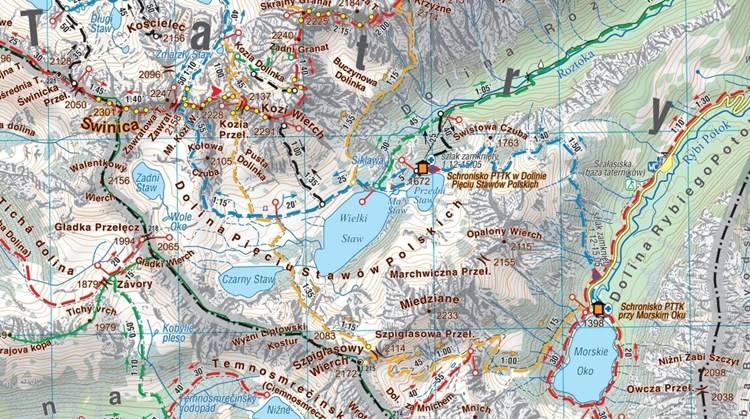 Tatry Polskie Wodoodporna Mapa Turystyczna 1 30 000 Mapy I