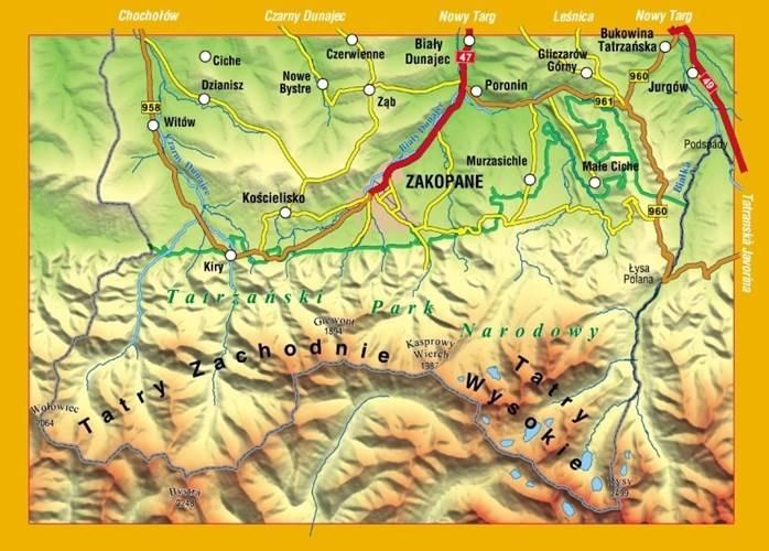 Tatry Polskie Orientacja Poludniowa Mapa Turystyczna 1 30 000