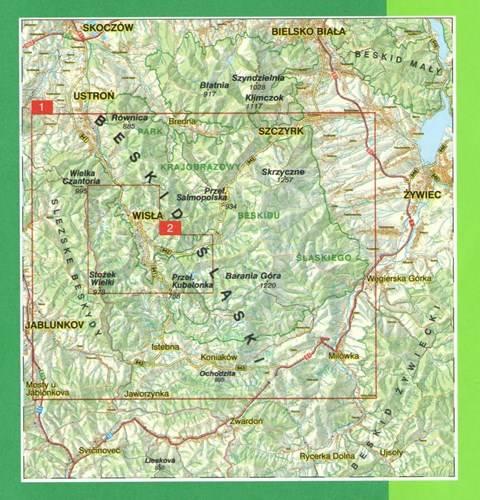 Wisla I Okolice Plan Miasta Mapa Okolic 1 20 000 Mapy I Atlasy