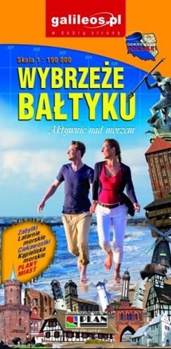 Niewiarygodnie Wybrzeże Bałtyku. Mapa turystyczna 1:190 000 | Mapy i Atlasy PA06