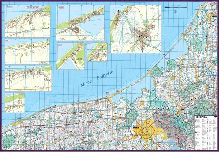 Wybrzeze Baltyku Ustronie Morskie Darlowo Mapa Mapy I Atlasy